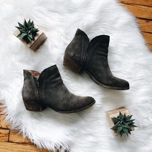 Lucky Brand Grey Suede Booties Size 9